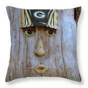 Green Bay Packer Humor Throw Pillow