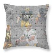 Green Bay Packers Legends Throw Pillow