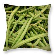 Green Beans Throw Pillow