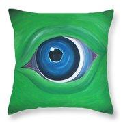 Green Beast Throw Pillow by Sven Fischer