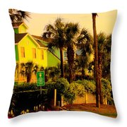 Green Beauty At Isle Of Palms Throw Pillow