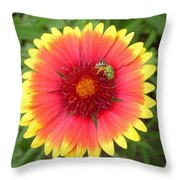 Green Bee Throw Pillow