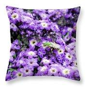 Green Bee Tiny Pollinator Throw Pillow