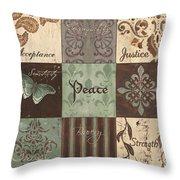 Green Brown Wtlb 2 Throw Pillow