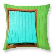 Green Cabin Throw Pillow