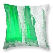 Green Cave Throw Pillow