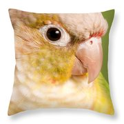 Green-cheeked Conure Pineapple P Throw Pillow