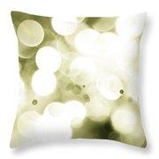Green Circles Throw Pillow