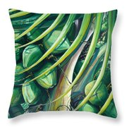 Green Coconuts  2  Throw Pillow