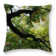 Green Days Throw Pillow