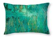 Green Door - Carmel By The Sea Throw Pillow