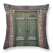 Green Door Ystad Throw Pillow