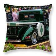 Green Dream Ford Throw Pillow