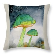 Green Dreams Throw Pillow