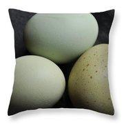 Green Eggs Throw Pillow