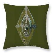 Green Elegance Throw Pillow
