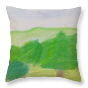 Green Enjoyment Throw Pillow