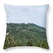Green Erikousa 1 Throw Pillow
