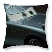 Green Eyed Finn Mcmissile Throw Pillow by Thomas Woolworth
