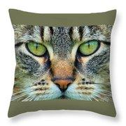 Green Eyez Throw Pillow