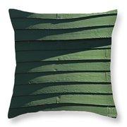 Green Facade Throw Pillow
