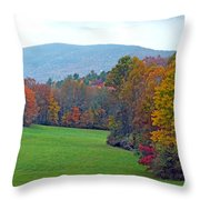 Green Field In The Fall Throw Pillow