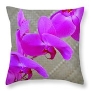 Green Field Sweetheart Orchid No 3 Throw Pillow