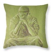 Green Figure I Throw Pillow