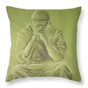 Green Figure I Throw Pillow