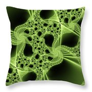 Green Filigree Throw Pillow