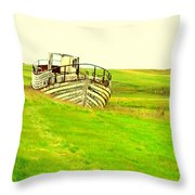 the sea is green but I still wanna go fishing  Throw Pillow