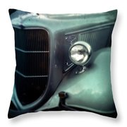 Green Ford Throw Pillow