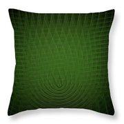 Green Fractal Background Throw Pillow