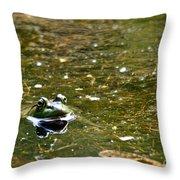 Green Friend Throw Pillow