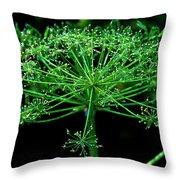 Green Frills II Throw Pillow