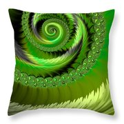 Green Fronds Throw Pillow