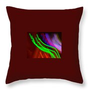 Green Fusion Traveler In The Cosmos Throw Pillow