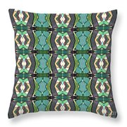 Green Geometric Abstract Pattern Throw Pillow