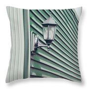 Green Geometry Throw Pillow