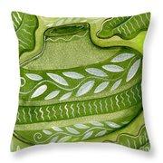 Green Gourd Throw Pillow