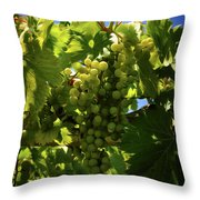 Green Grapes On The Vine Throw Pillow