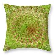 Green Grass Swirled Throw Pillow
