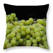 Green Green Grapes Throw Pillow