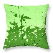 Green Green Haiku Throw Pillow