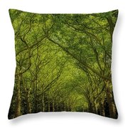Green Green World Throw Pillow