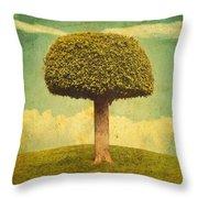 Green Growing Lullaby Throw Pillow