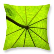 Green Growth Throw Pillow