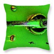 Green Handle Throw Pillow