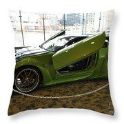 Green Hornet Throw Pillow
