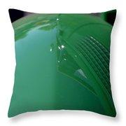 Green Hotrod Throw Pillow